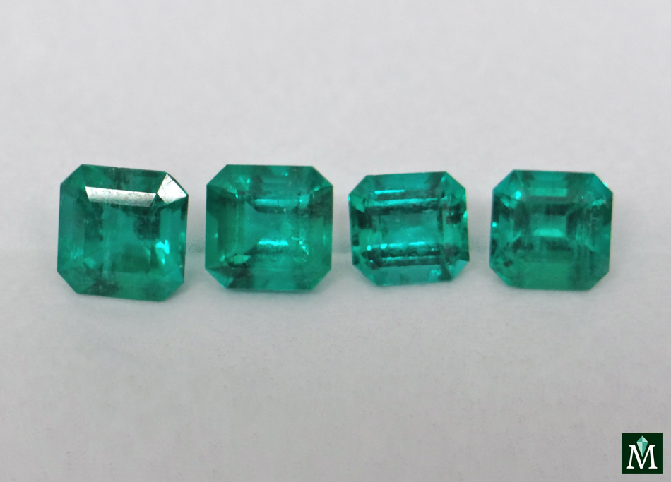 Emerald cut emeralds from muzo