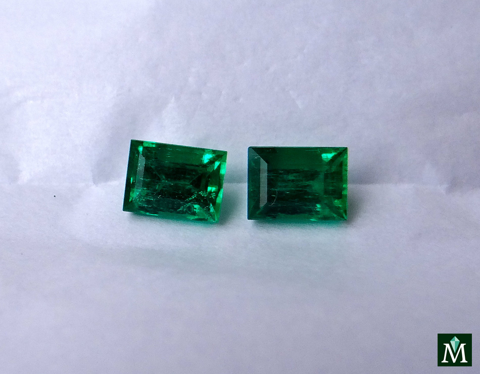 Princess cut emeralds